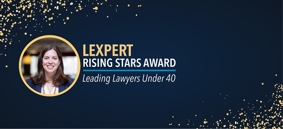 Tax Partner Katy Pitch Receives Lexpert Rising Stars Award
